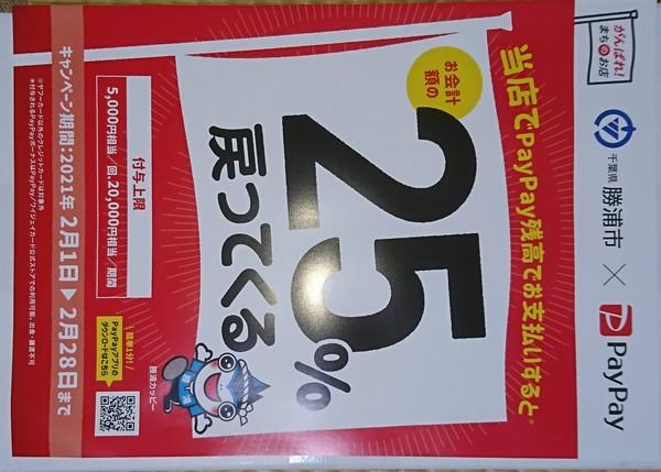 勝浦市×ペイペイ 25%還元キャンペーン!!。