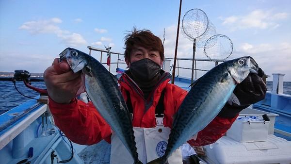 2月8日 外房勝浦川津の寒サバ〜ヤリイカリレー釣り!!。のサムネイル