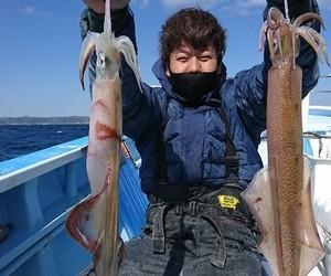 2月24日 外房勝浦川津の寒サバ〜ヤリイカのリレー釣り!!。