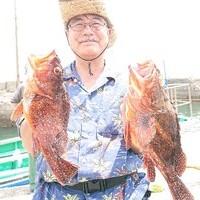 6月2日 外房勝浦川津のマハタ根魚五目!!。のサムネイル